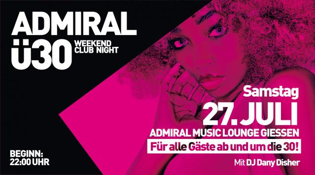 Admiral Ü30 Clubbing